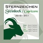 Sternzeichen Steinbock 22,12,-20,1,