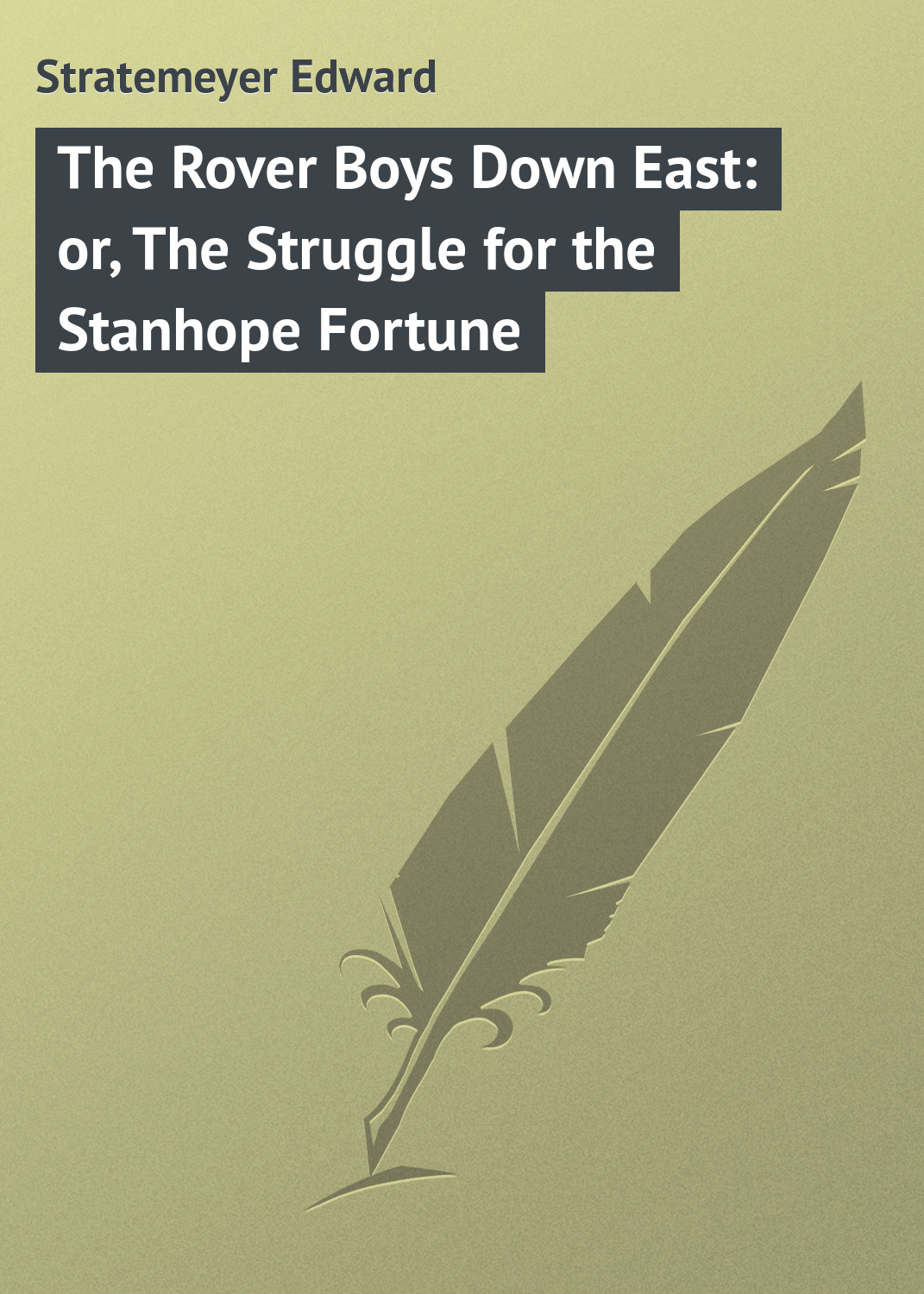 Stratemeyer Edward The Rover Boys Down East: or, The Struggle for the Stanhope Fortune