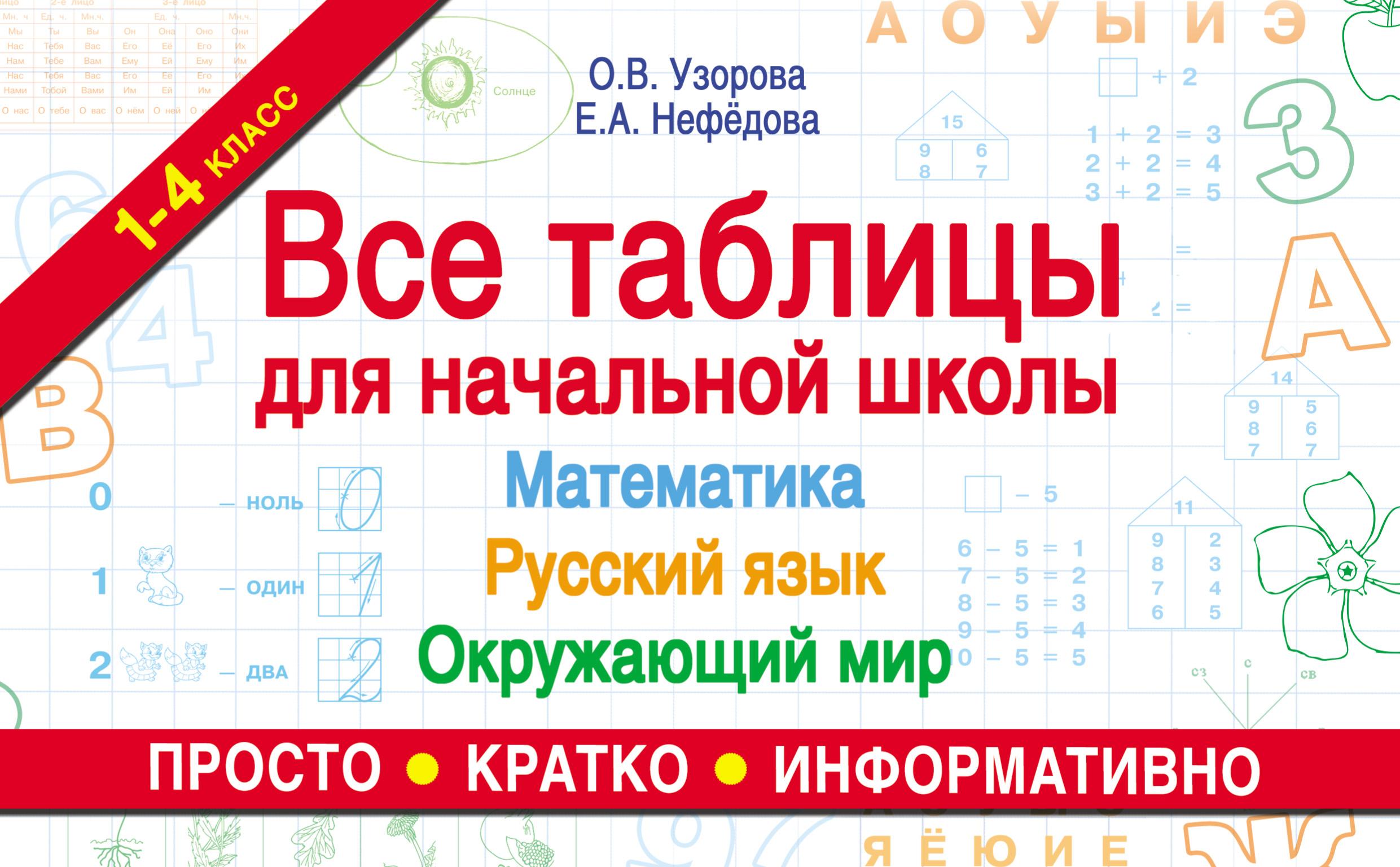 О. В. Узорова Все таблицы для начальной школы. Математика, русский язык, окружающий мир для школы нужна временная или постоянная регистрация