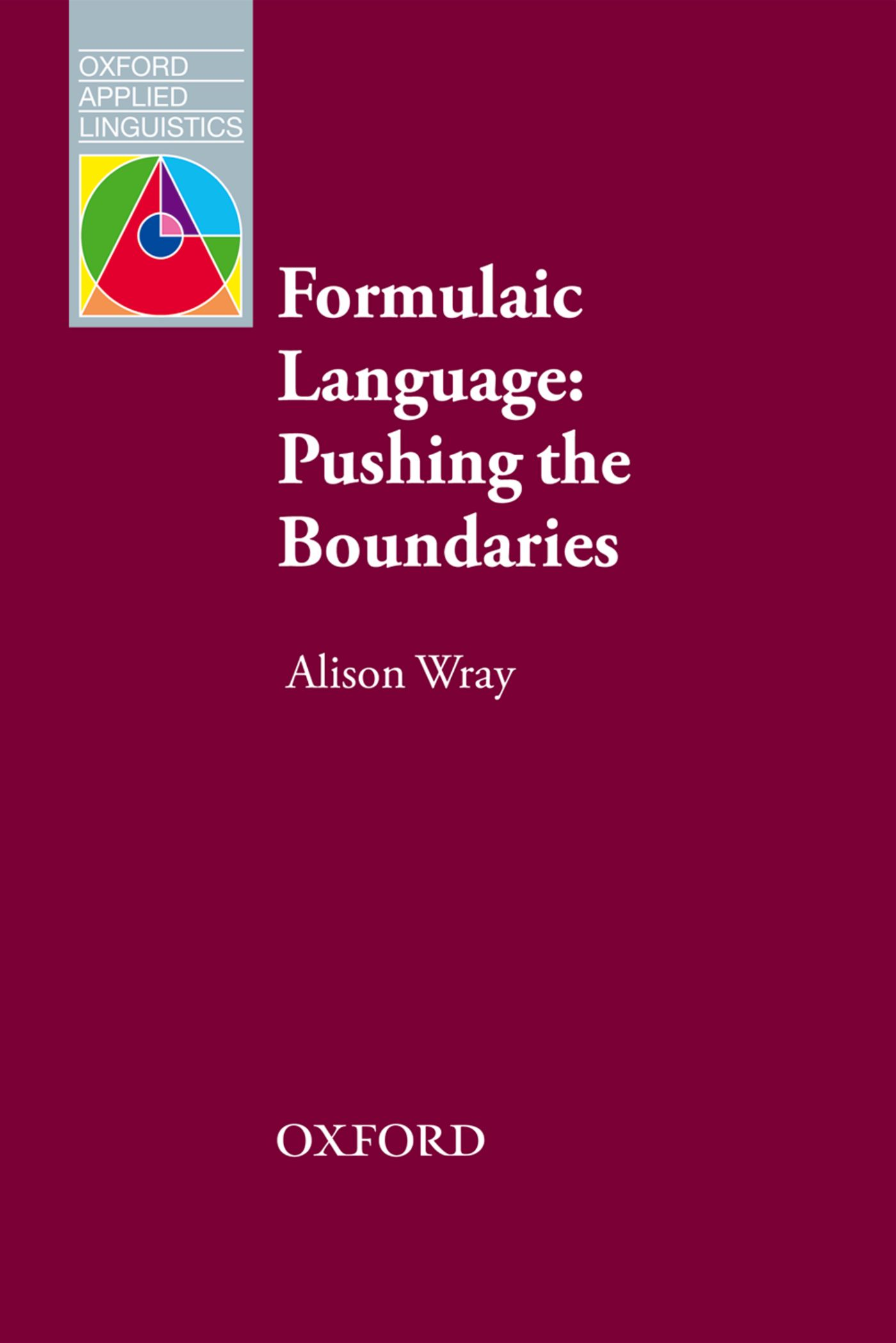 Alison Wray Formulaic Language basics of language testing