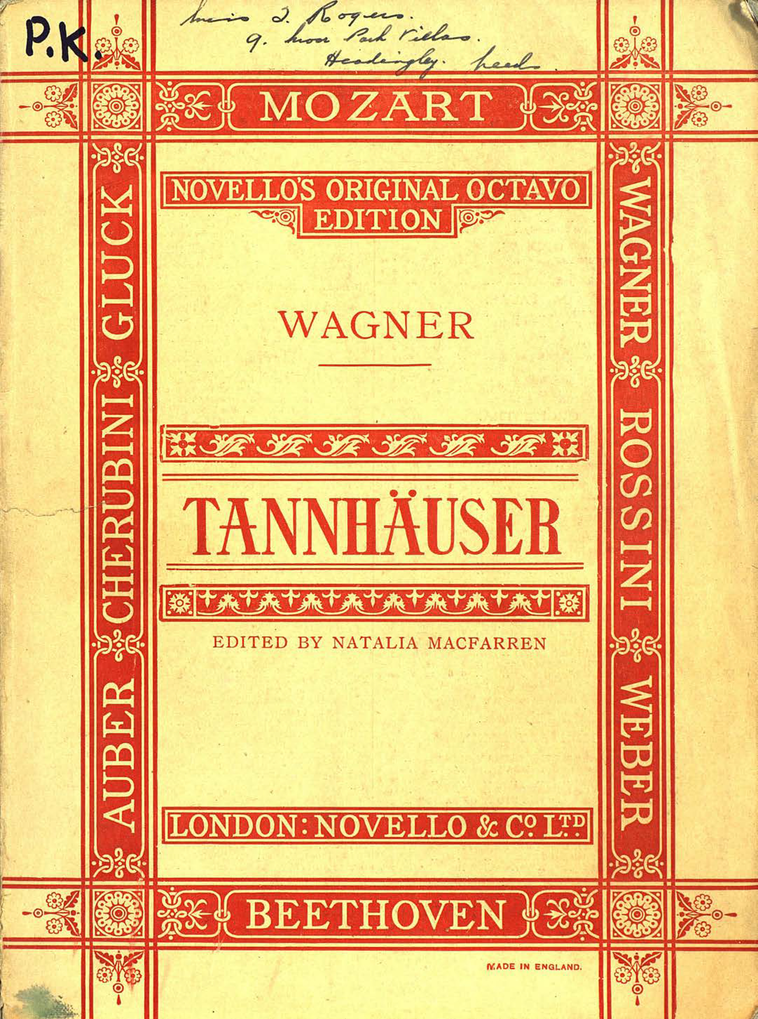 Рихард Вагнер Tannhauser and the tournament of song at wartburg