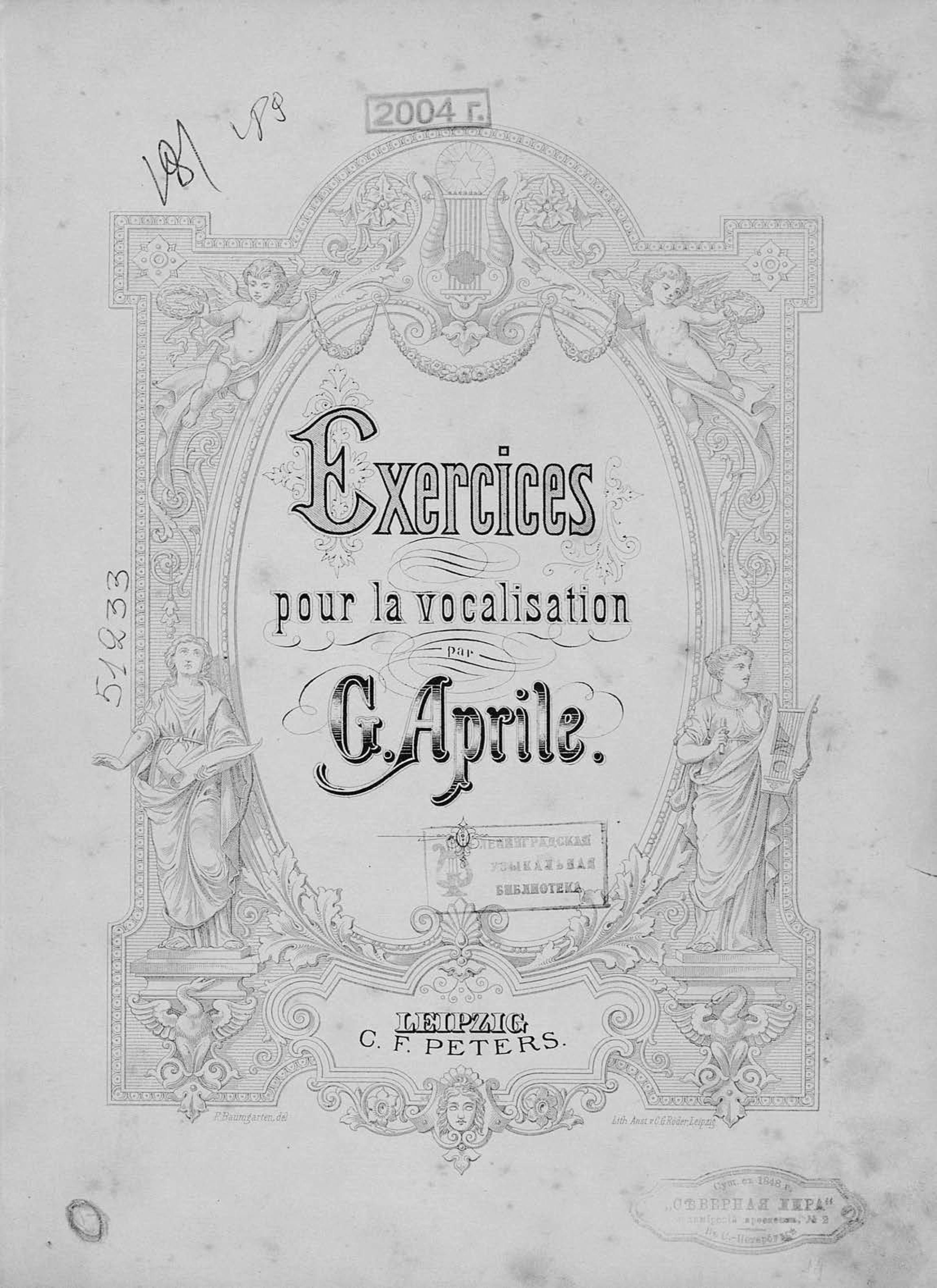Джузеппе Априле Exercices pour la vocalisation par G. Aprile цена