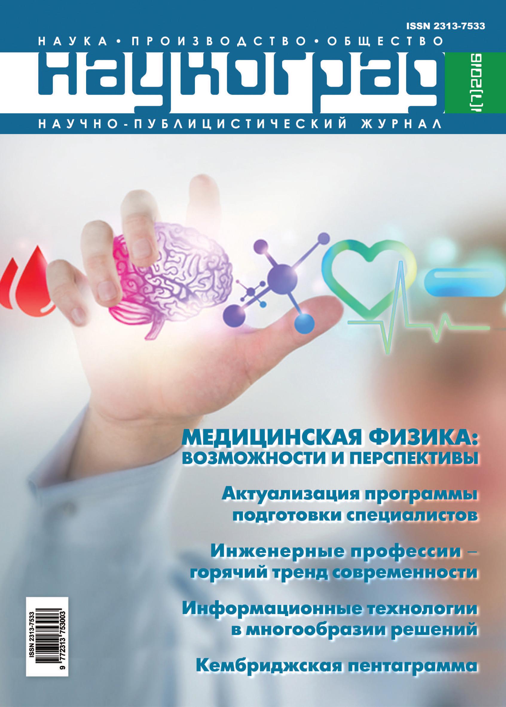 Отсутствует Наукоград: наука, производство и общество №1/2016