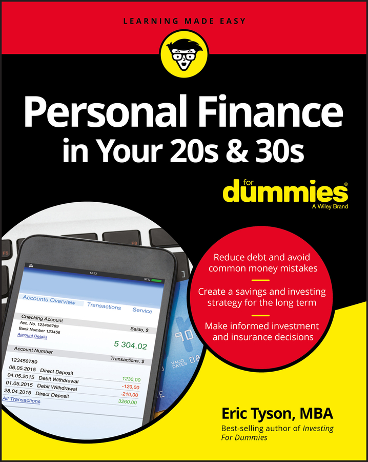 Eric Tyson Personal Finance in Your 20s and 30s For Dummies tony martin personal finance for canadians for dummies