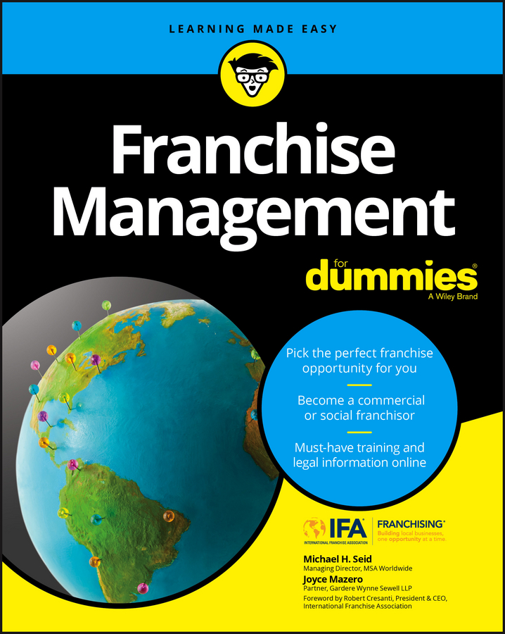 Joyce Mazero Franchise Management For Dummies k1x k1x ny franchise