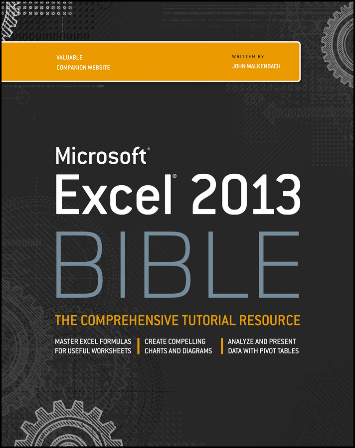 John Walkenbach Excel 2013 Bible john walkenbach excel vba programming for dummies