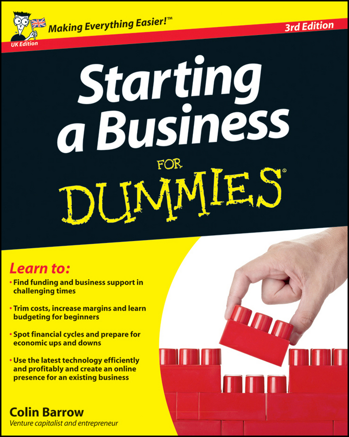 Colin Barrow Starting a Business For Dummies konstantina nikita s handbook of biomedical telemetry