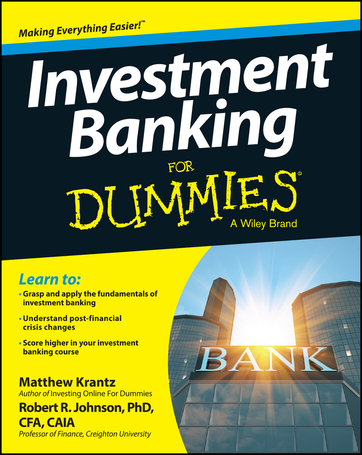 Matt Krantz Investment Banking For Dummies british banking