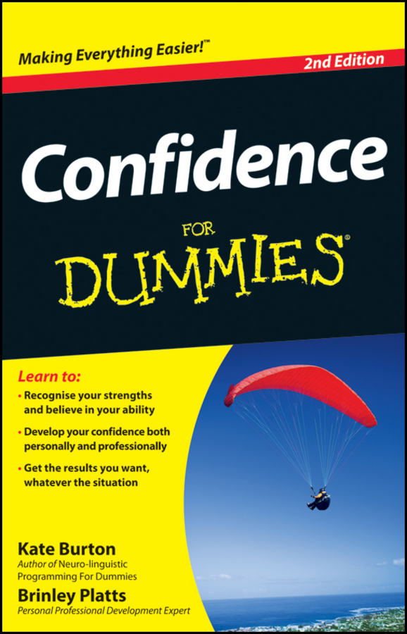 Kate Burton Confidence For Dummies like she owns the place unlock the secret of lasting confidence
