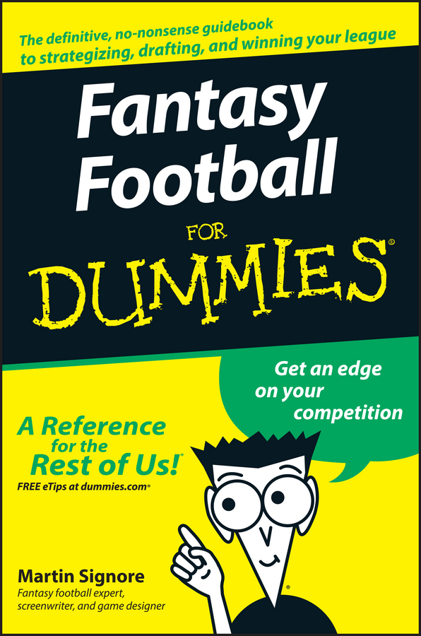 Martin Signore Fantasy Football For Dummies martin signore fantasy football for dummies