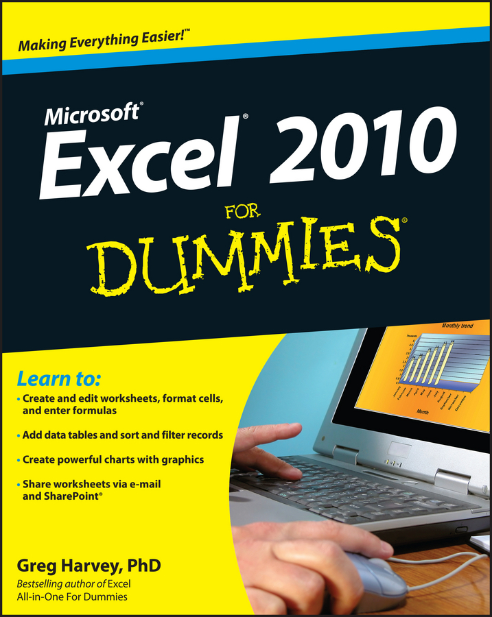 Greg Harvey Excel 2010 For Dummies word 2010 elearning kit for dummies