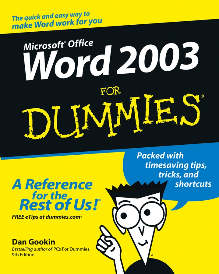 Dan Gookin Word 2003 For Dummies word 2010 elearning kit for dummies