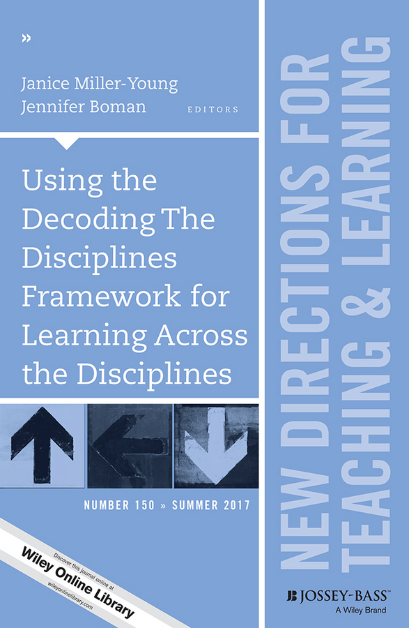 Janice Miller-Young Using the Decoding The Disciplines Framework for Learning Across the Disciplines. New Directions for Teaching and Learning, Number 150