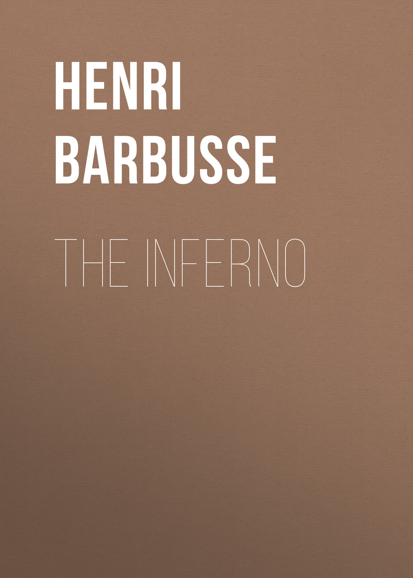 Henri Barbusse The Inferno kyosho inferno gt2