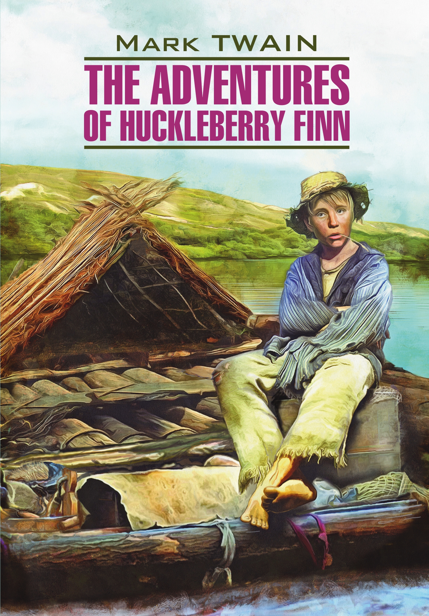 Марк Твен The Adventures of Huckleberry Finn / Приключения Гекльберри Финна. Книга для чтения на английском языке 2 colors infant children kids baby toilet training non slip folding potty trainer safety seat chair step with adjustable ladder