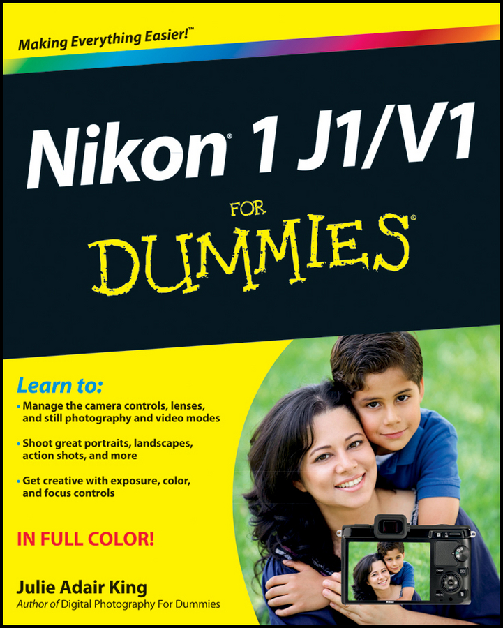 Julie Adair King Nikon 1 J1/V1 For Dummies viltrox dg 1n 10mm 16mm auto extension tube set for nikon j1 j2 v1 black silver