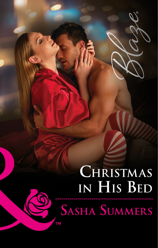 Sasha Summers Christmas In His Bed hook up cut out corset with panties