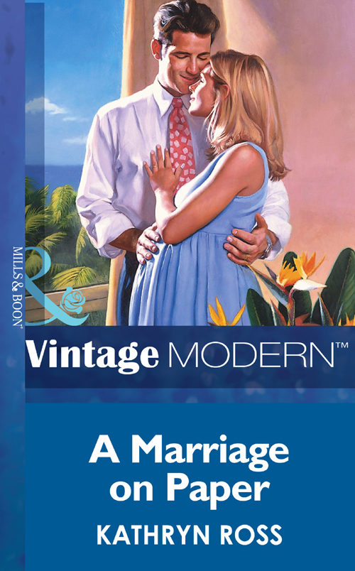 Kathryn Ross A Marriage On Paper