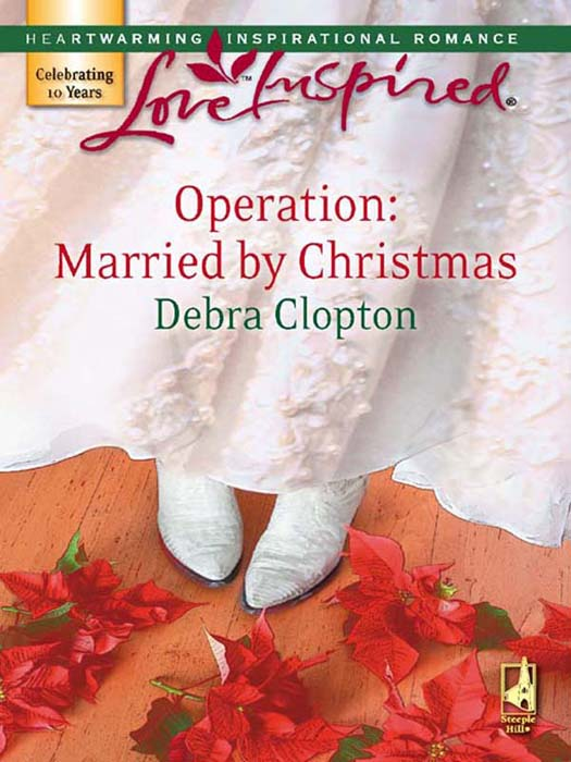 Debra Clopton Operation: Married by Christmas hollow enamel christmas bell floral brooch