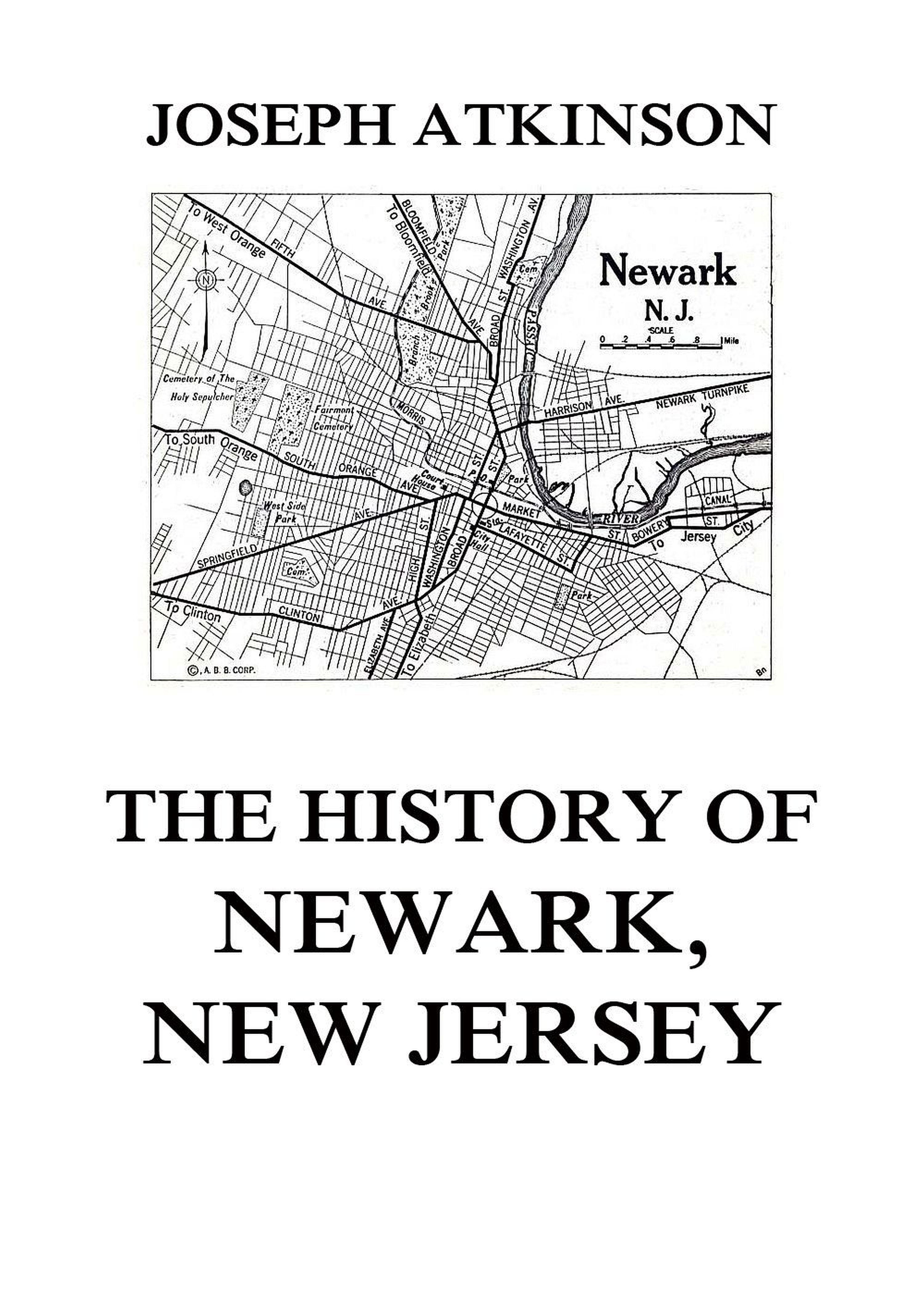 Joseph Atkinson The History of Newark, New Jersey