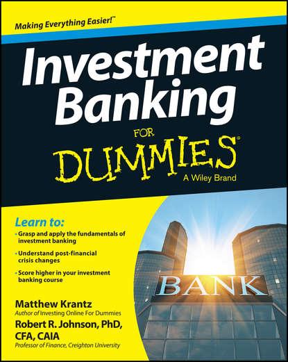 Matt Krantz Investment Banking For Dummies behavioural finance for private banking