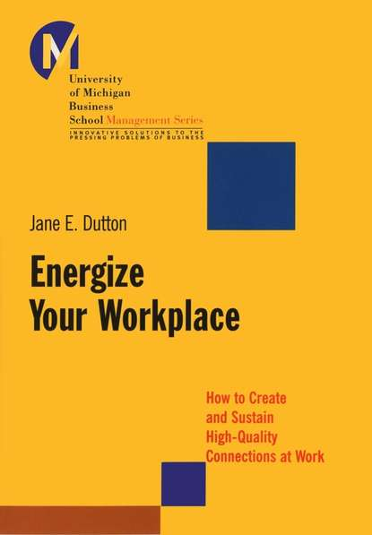 Jane Dutton E. Energize Your Workplace. How to Create and Sustain High-Quality Connections at Work learning in workplace