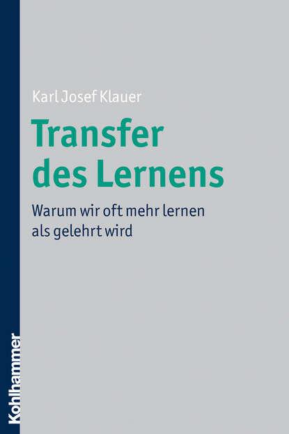 Karl Josef Klauer Transfer des Lernens karl witt josef grundbau taschenbuch teil 1 geotechnische grundlagen