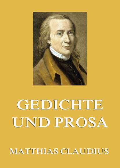 Matthias Claudius Gedichte und Prosa недорого
