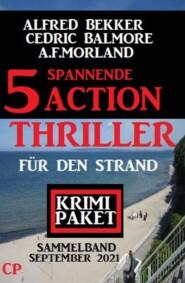5 spannende Action Thriller für den Strand: Krimi Paket September 2021