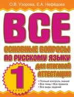 Все основные вопросы по русскому языку для итоговой аттестации. 1 класс