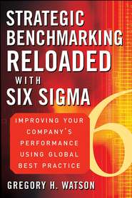 Strategic Benchmarking Reloaded with Six Sigma. Improving Your Company\'s Performance Using Global Best Practice